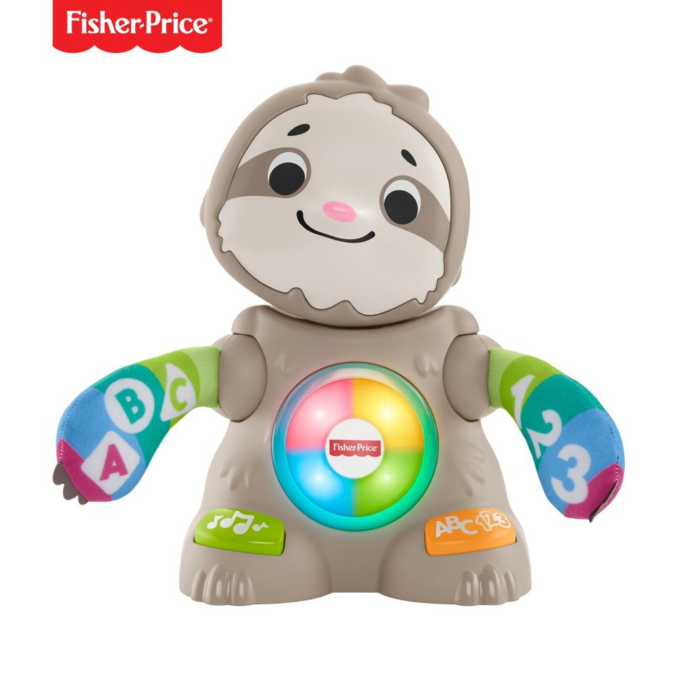 The Linkimals Smooth Moves Sloth gets your baby moving and learning with exciting lights, music, songs, and groovy dance move