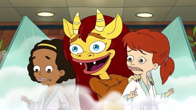 The characters Jessi and Missy with Connie the Hormone Monstress in