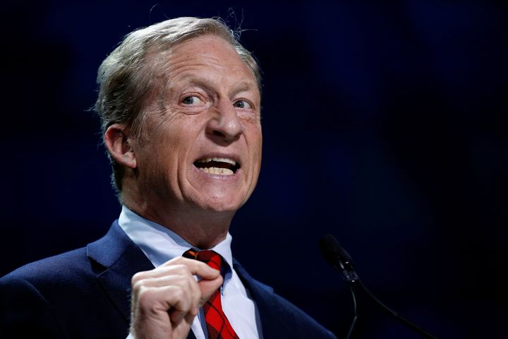 Tom Steyer, founder of NextGen Climate, would declare climate change a national emergency.