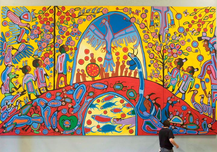 """Androgyny,"" another painting by Norval Morrisseau which hangs in the ballroom at Rideau Hall in Ottawa."