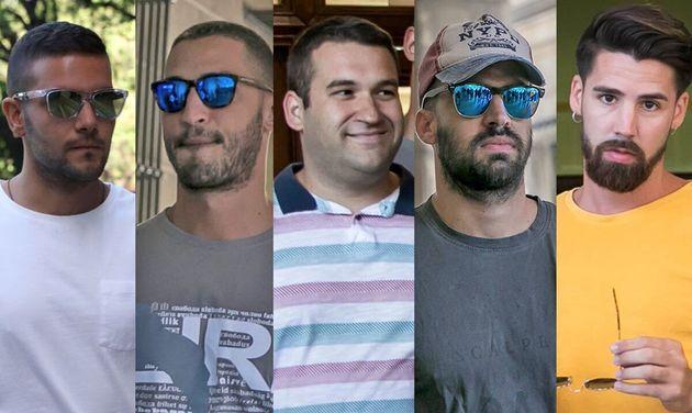 Imágenes de archivo de los cinco miembros de 'La