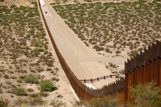 Une partie du mur à la frontière du Mexique et es États-Unis, le 28 août