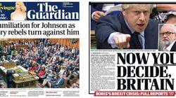 «Ο Μπόρις έχασε τον έλεγχο» έως «Η Βουλή παραδόθηκε στην ΕΕ» - Τα πρωτοσέλιδα του βρετανικού