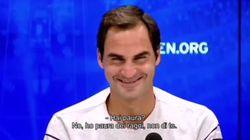Federer scherza col giornalista italiano agli US Open: