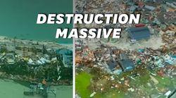 Les images aériennes des dégâts considérables de Dorian aux Bahamas, où au moins 20 personnes ont été