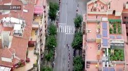 Esta imagen del helicóptero de La Vuelta a España moviliza a la Policía: fíjate en los
