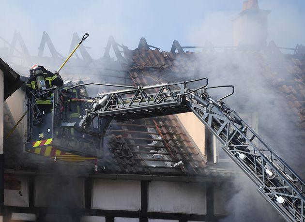 Le feu a pris dans une vieille maison alsacienne réhabilitée pour accueillir des logements
