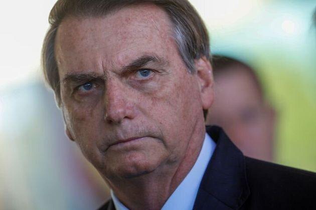Le président Jair Bolsonaro durant une conférence de presse à Brasilia, le 28 août