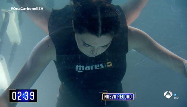 Pilar Rubio revela cómo logró estar más de cuatro minutos bajo el agua sin
