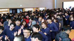 한국 첫 애플스토어 문 연 날 펼쳐진