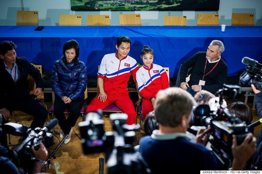 북한 피겨 페어 렴대옥-김주식은 평창동계올림픽 출전에 만족하지