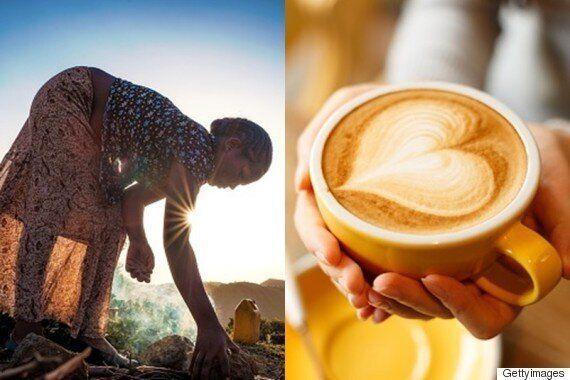 최초로 커피를 발견한 사람들이 춤을 춘
