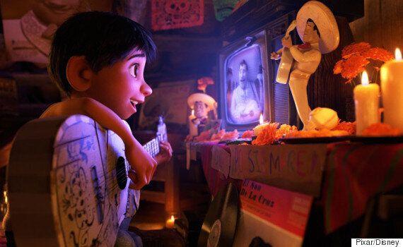 애니메이션 '코코'의 한 장면에서 '인사이드 아웃'의 '빙봉'이