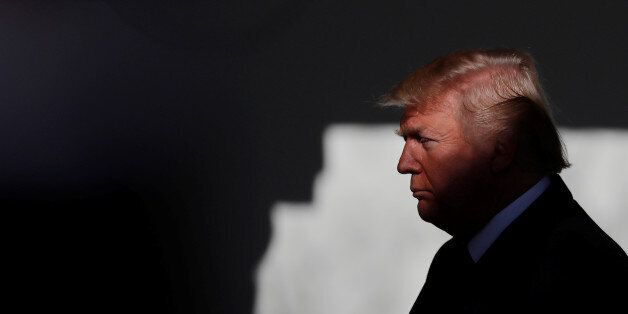 U.S. President Donald Trump prepares to address the annual March for Life rally, taking place on the...