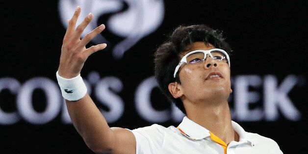 Tennis - Australian Open - Rod Laver Arena, Melbourne, Australia, January 22, 2018. Chung Hyeon of South...