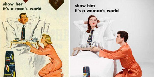 아티스트가 성차별적 광고 속 성 역할을 바꿔본 이유 (광고