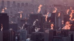올겨울 최강 한파가 닥친 서울의 아침