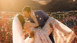 120m 상공에서 결혼식을 올린 부부가