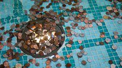 소원을 빌며 분수대에 던진 동전은 이렇게