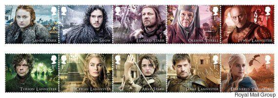 영국 국립 우체국이 '왕좌의 게임' 우표를