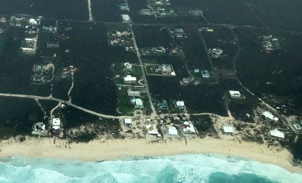 In this handout aerial photo provided by the HeadKnowles Foundation, damage is seen from Hurricane Dorian on Abaco Island on