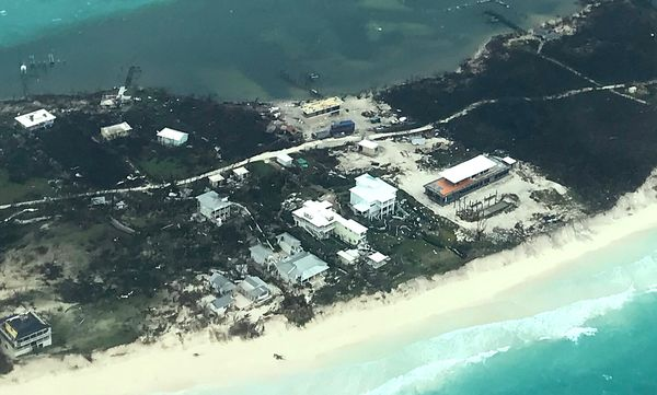 In this handout aerial photo provided by the HeadKnowles Foundation, damage is seen from Hurricane Dorian on Abaco Isla
