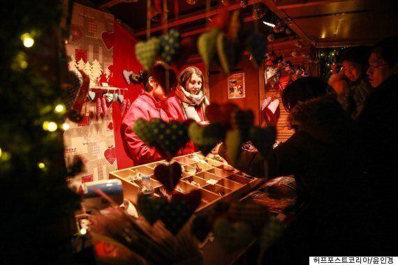서울에서 프랑스 스트라스부르의 크리스마스 마켓이