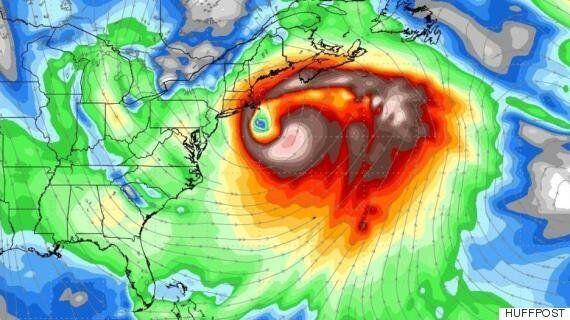 무시무시한 겨울폭풍이 미국 동부를