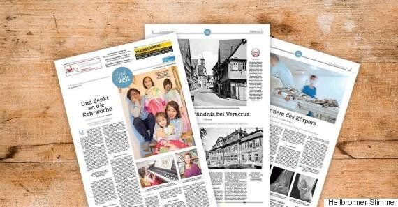 독일의 어느 지역 신문이 크리스마스를 축하한