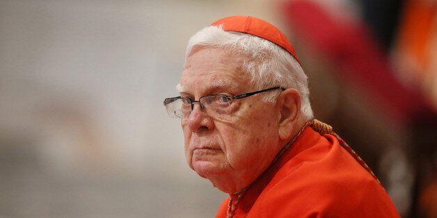 Celebration for St Joseph, the Holy Virgin Mary's husband. A clos-up of cardinal Bernard Francis Law...