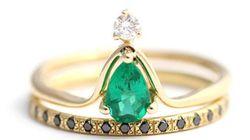 다이아몬드를 무색하게 할 황홀한 약혼반지