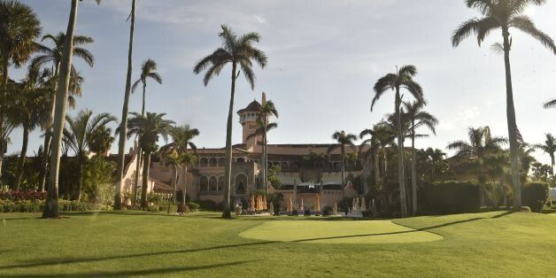 A general view of US President Donald J. Trump's Mar-a-Lago resort in Palm Beach, Florida on December...