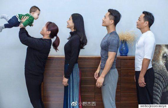 이 가족은 6개월의 다이어트 후 다시 똑같은 사진을