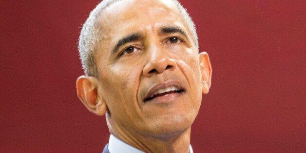 Former U.S. President Barack Obama speaks at the Bill & Melinda Gates Foundation Goalkeepers event in...