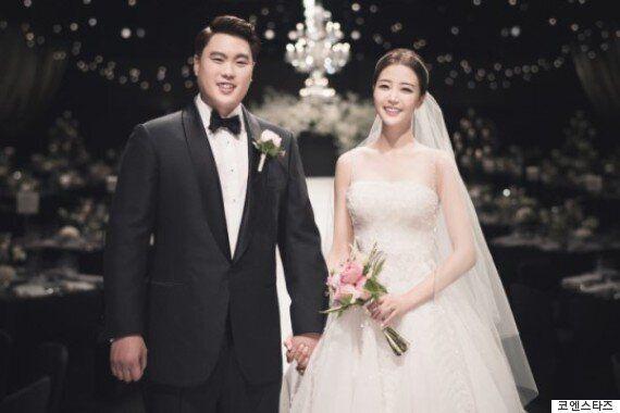 류현진, 배지현 커플이 결혼식을