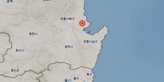 경북 포항에서 규모 3.5 지진이