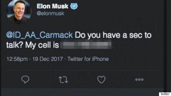 일론 머스크가 실수로 트위터에 공개해버린