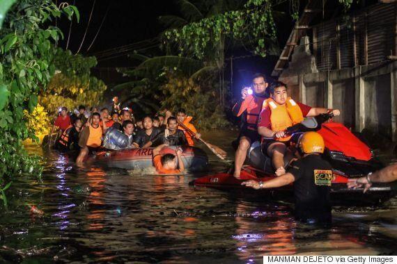 필리핀 강타한 태풍 '덴빈'으로 200명 이상이