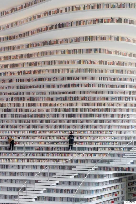 중국 톈진의 빈하이 도서관이 감추고 있던 엄청난