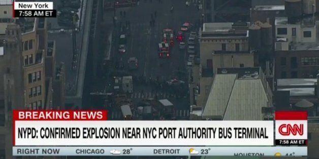 뉴욕 맨해튼에서 원인 미상의 폭발이
