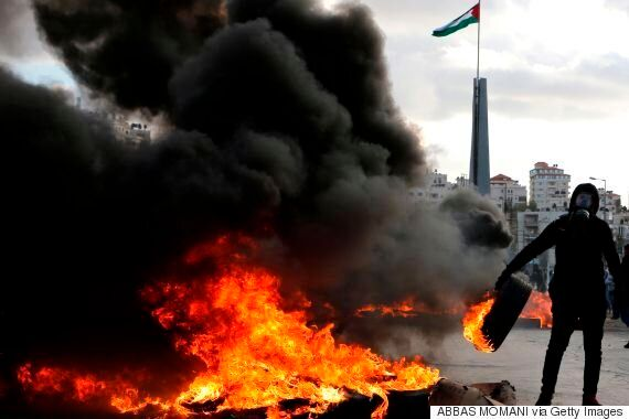 트럼프 '예루살렘 수도 인정'에 항의하는 시위가 빠르게 번지고