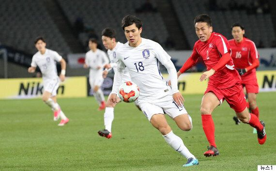 축구 대표팀이 북한에 1-0 승리를