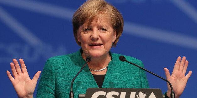 NUREMBERG, GERMANY - DECEMBER 15: German Chancellor and leader of the German Christian Democrats (CDU)...