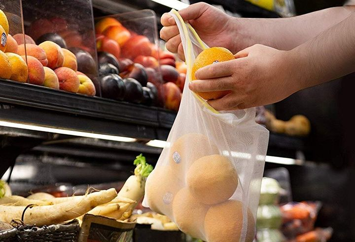 "These reusable mesh produce bags on an Amazon Deal Of The Day for Wednesday, Sept. 4. <strong><a href=""https://amzn.to/2LpPkbQ"" target=""_blank"" rel=""noopener noreferrer"">Get them for nearly 60% off today only</a></strong>."