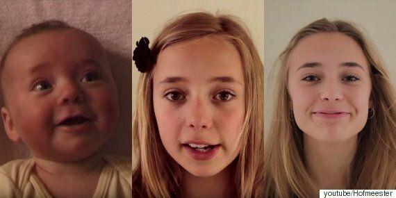 18년 동안 매주 딸의 모습을 촬영한 아빠가 만든