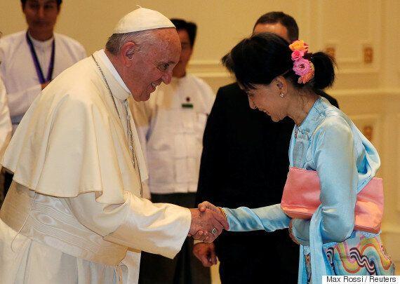 프란치스코 교황과 아웅산 수치의 만남에서 '로힝야' 언급은