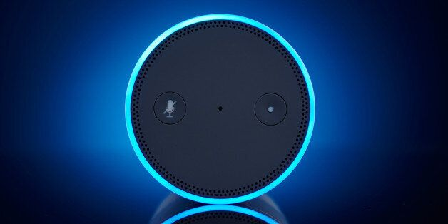 An Amazon Echo multimedia smart speaker, taken on November 28, 2016. (Photo by Joby Sessions/T3 Magazine...