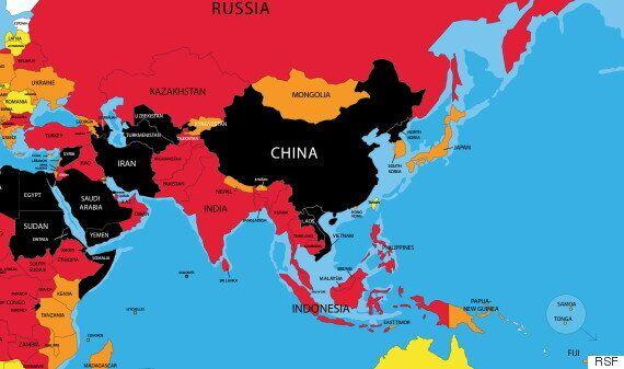 국경없는기자회가 '한국 기자 폭행' 사건을 전하며 중국 정부를