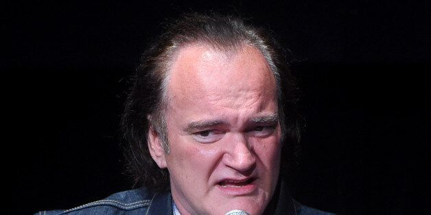 NEW YORK, NY - APRIL 28: Quentin Tarantino speaks onstage during the panel for the 'Reservoir Dogs' Screening...