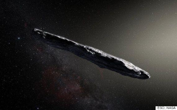 이 성간천체는 외계 우주선이라는 의심을 받고